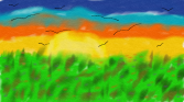 Digital Paint, Horizon Sunset