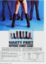 nasty feet boot ad